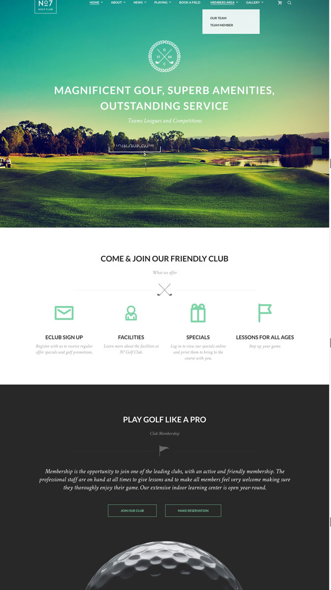 15+ Best Golf WordPress Themes for Golf Courses, Golf Clubs and Golf ...