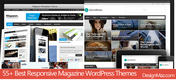 55+ Best Responsive Magazine WordPress Themes