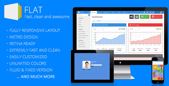 55 best responsive admin templates 2017 designmaz flat responsive admin template malvernweather Image collections