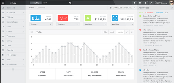 genius-dashboard-bootstrap-admin-template