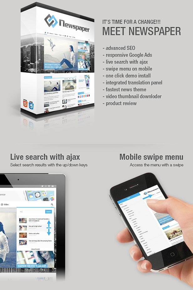 Newspaper is a Premium Responsive & Retina Display WordPress Theme