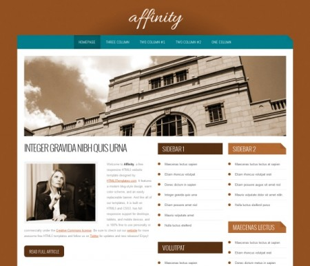 Affinity Responsive HTML5 Template