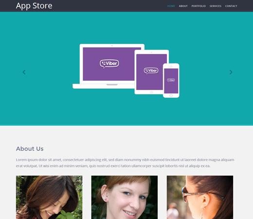 Appstore Responsive Mobile website template