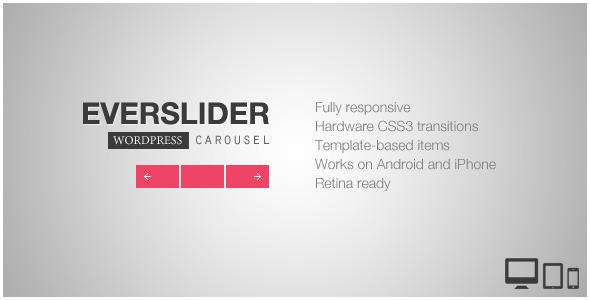 Everslider - Responsive WordPress Carousel Plugin