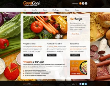 GoodCook Responsive HTML5 Template