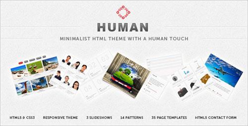 Human Responsive HTML5 Theme