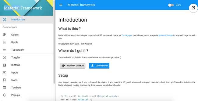 Material-Framework