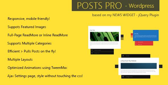 Posts Pro - WordPress Plugin
