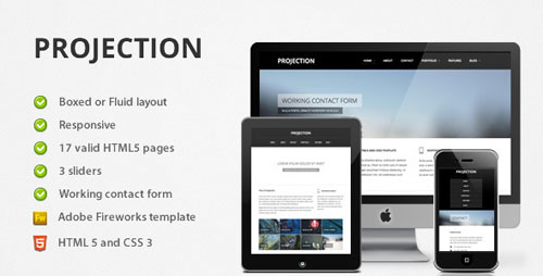 Projection Responsive HTML5 Template