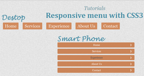 Make Responsive Menus