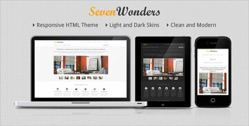 SevenWonders Clean Responsive HTML Template