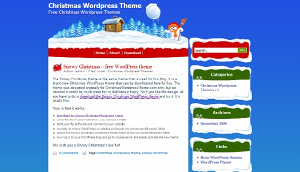 Snowy-Christmas-WordPress-Themes