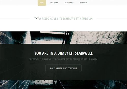TXT Responsive Website Template