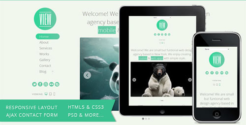 View HTML5 Responsive Single Page Template