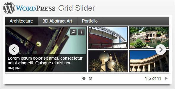 Wordpress Grid Slider Plugin