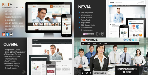 75+ Creative Responsive Business Wordpress Themes