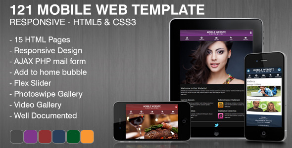 121 Mobile Web Template