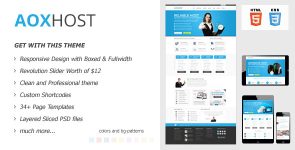 AOX HOST - Responsive Hosting Theme