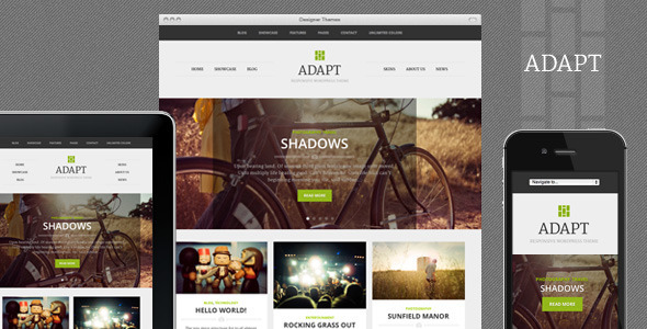 Adapt, a Responsive WordPress Theme