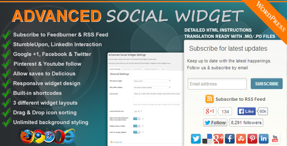 Advanced Social Widget