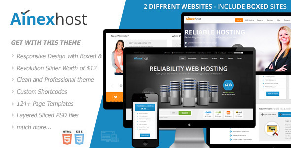 Ainex Host - Responsive Hosting Template