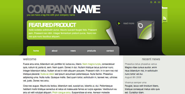 Algae - Sleek-Clean Corporate or Freelance Site