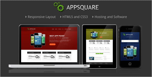 AppSquare - Software and Hosting HTML Template