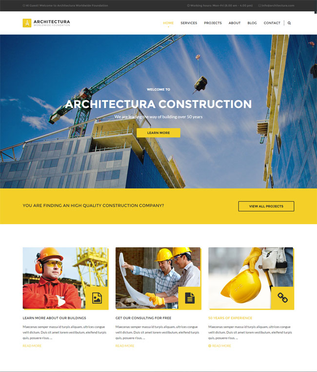 25 Best Wordpress Themes For Architects Architecture Firms 2017