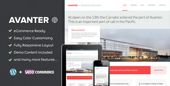 Avanter-Corporate - Architecture Theme
