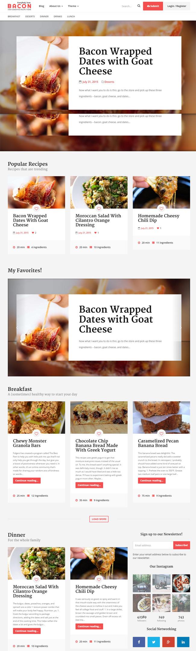Bacon-User-Generated-Recipe-Theme