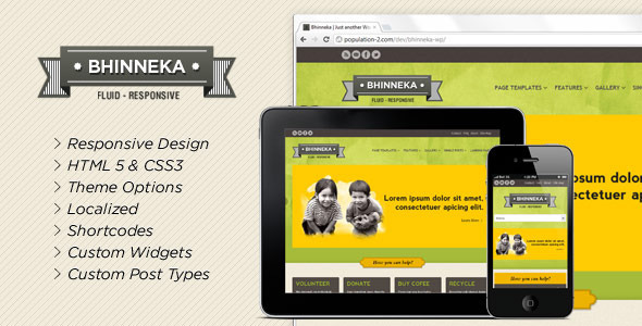 Bhinneka-a Responsive WordPress Theme