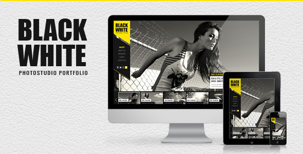 Black-White-Responsive Photo Portfolio