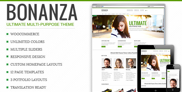 Bonanza - Responsive Multi-Purpose WordPress Theme