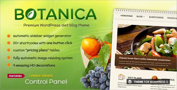 Botanica - Diet & Fitness WordPress Theme
