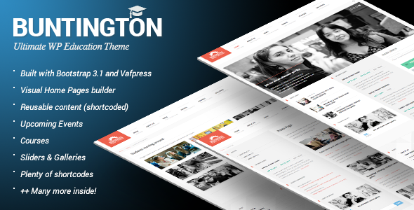 Buntington - Education WP Theme