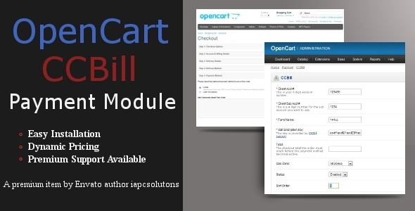 CCBill Payment Module for OpenCart