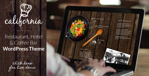 California - Restaurant Hotel Bar WordPress Theme