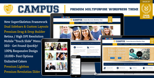 Campus-Premium Multipurpose WordPress Theme