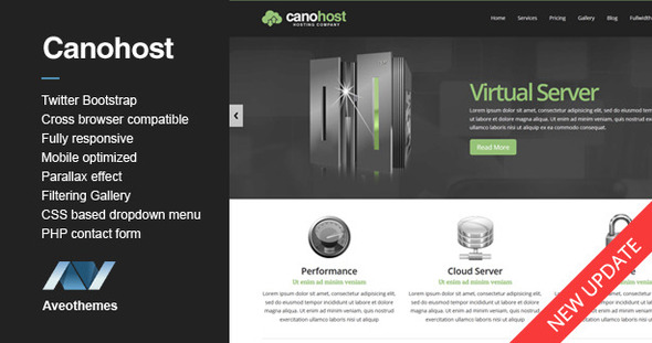 CanoHost - Responsive Hosting & Business Template