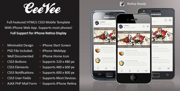 CeeVee-Mobile-Retina-HTML5-CSS3-And-iWebApp