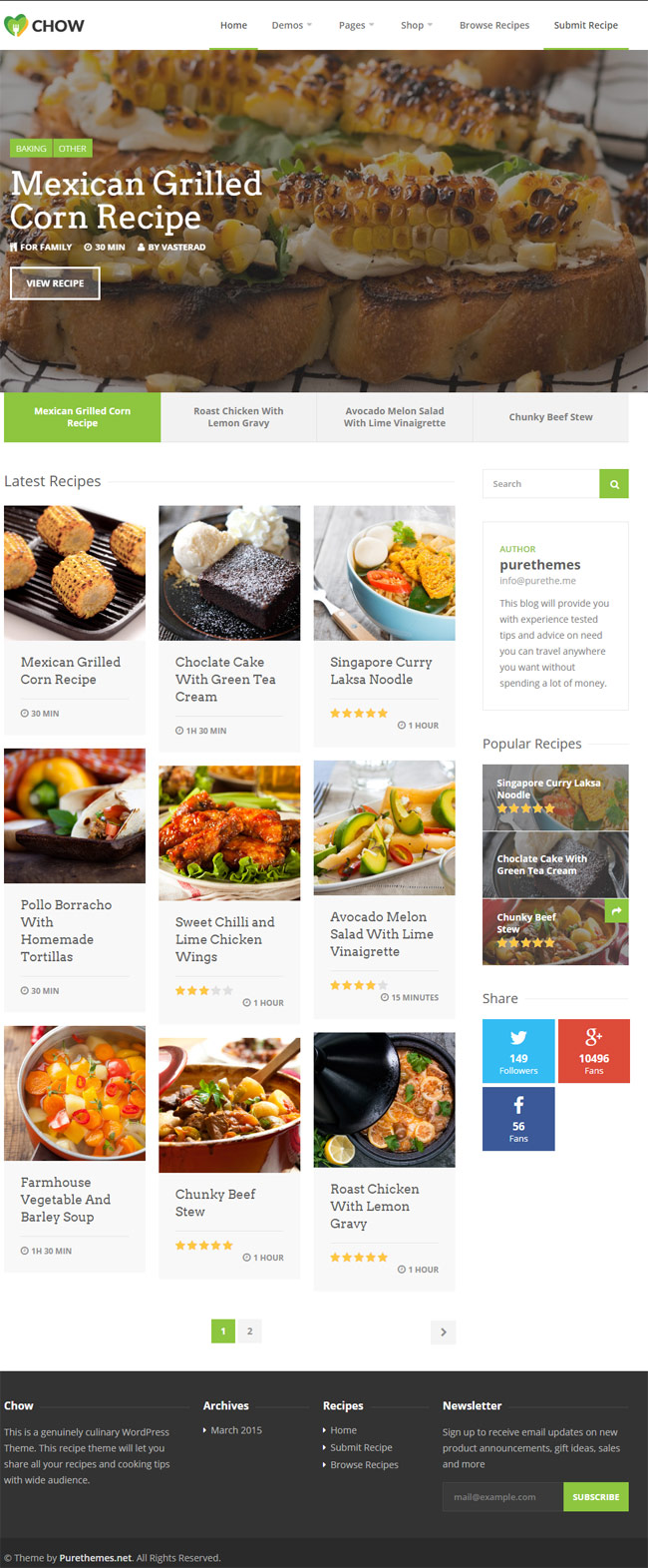 Chow-Recipe-Food-WordPress-Theme
