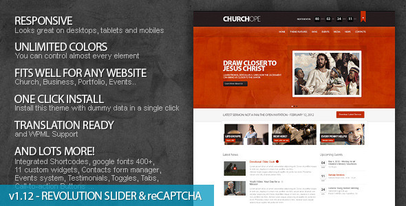ChurcHope-Responsive WordPress Theme