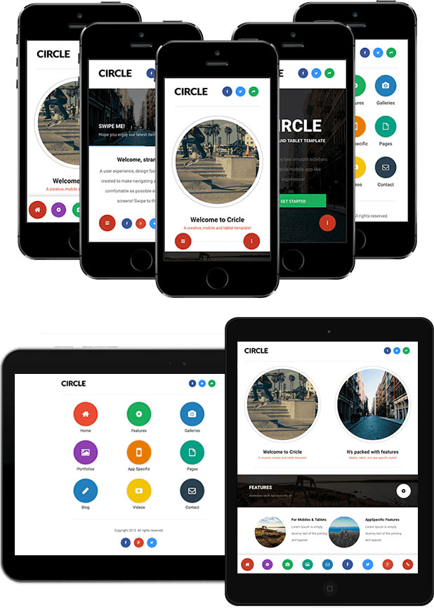 Circle-Mobile-Tablet-Responsive-Template