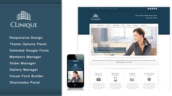 Clinique-Responsive Medical Theme
