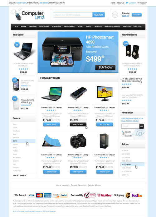 Computer-Land-Ecommerce-Templates