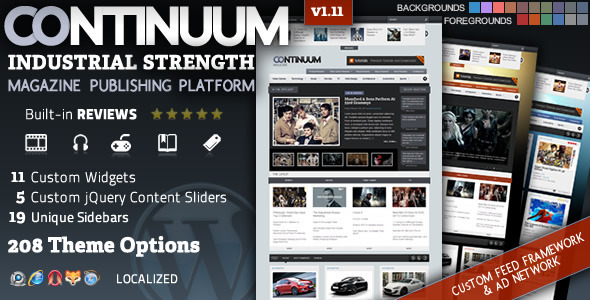 Continuum-Magazine WordPress Theme