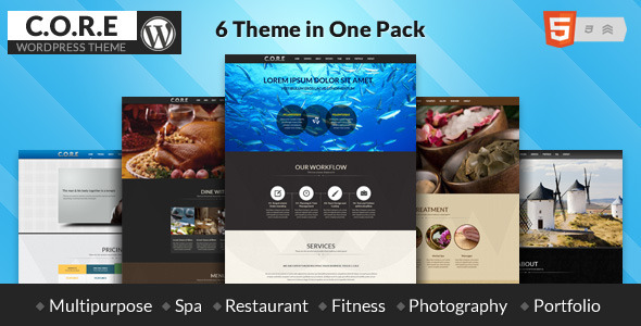 Core-Responsive One Page Multi-Purpose Theme