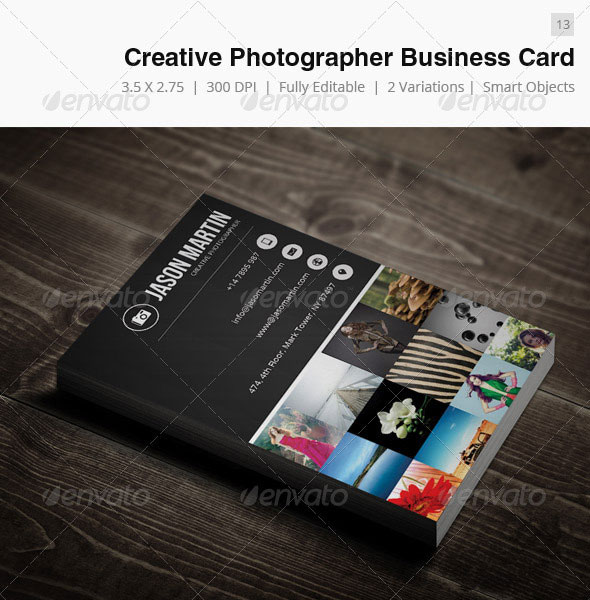 65 best business card for photographers 2016 designmaz creative photographer business card 13 reheart Image collections