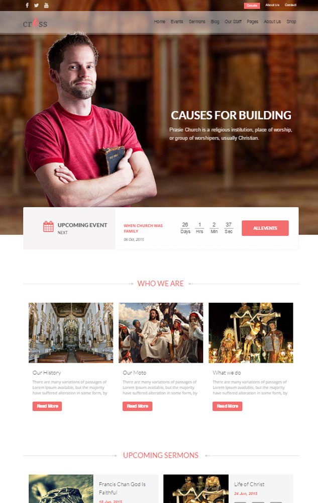 Cross-Church-Layers-Wordpress-Child-Theme