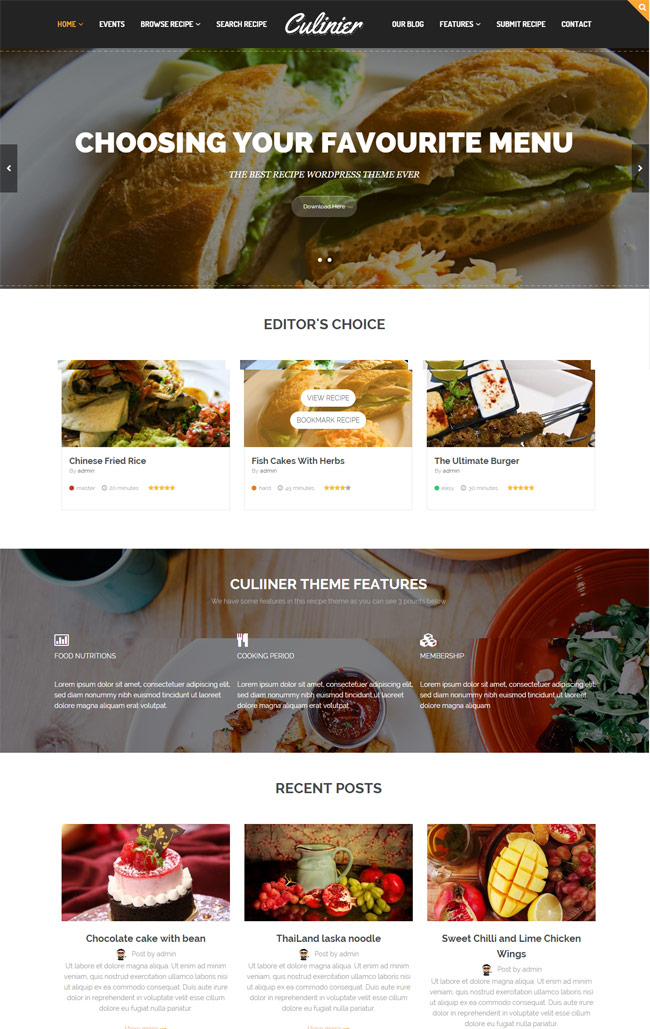 Culinier-Food-Recipe-Wordpress-Theme